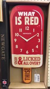 Newgate Red Lolly boxed Clock