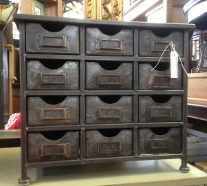 Sm Industrial Table Top Chest