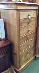 Tall pine chest of draws