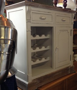 white wine cab and cupboard