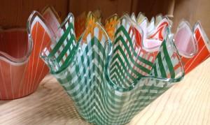 Handkerchief Vase Green