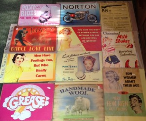 Selection of Tin signs