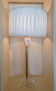 Glass silver stright lamp