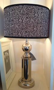 silver flower shade lamp