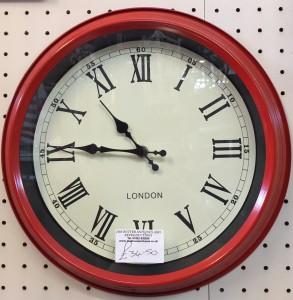 red-london-clock