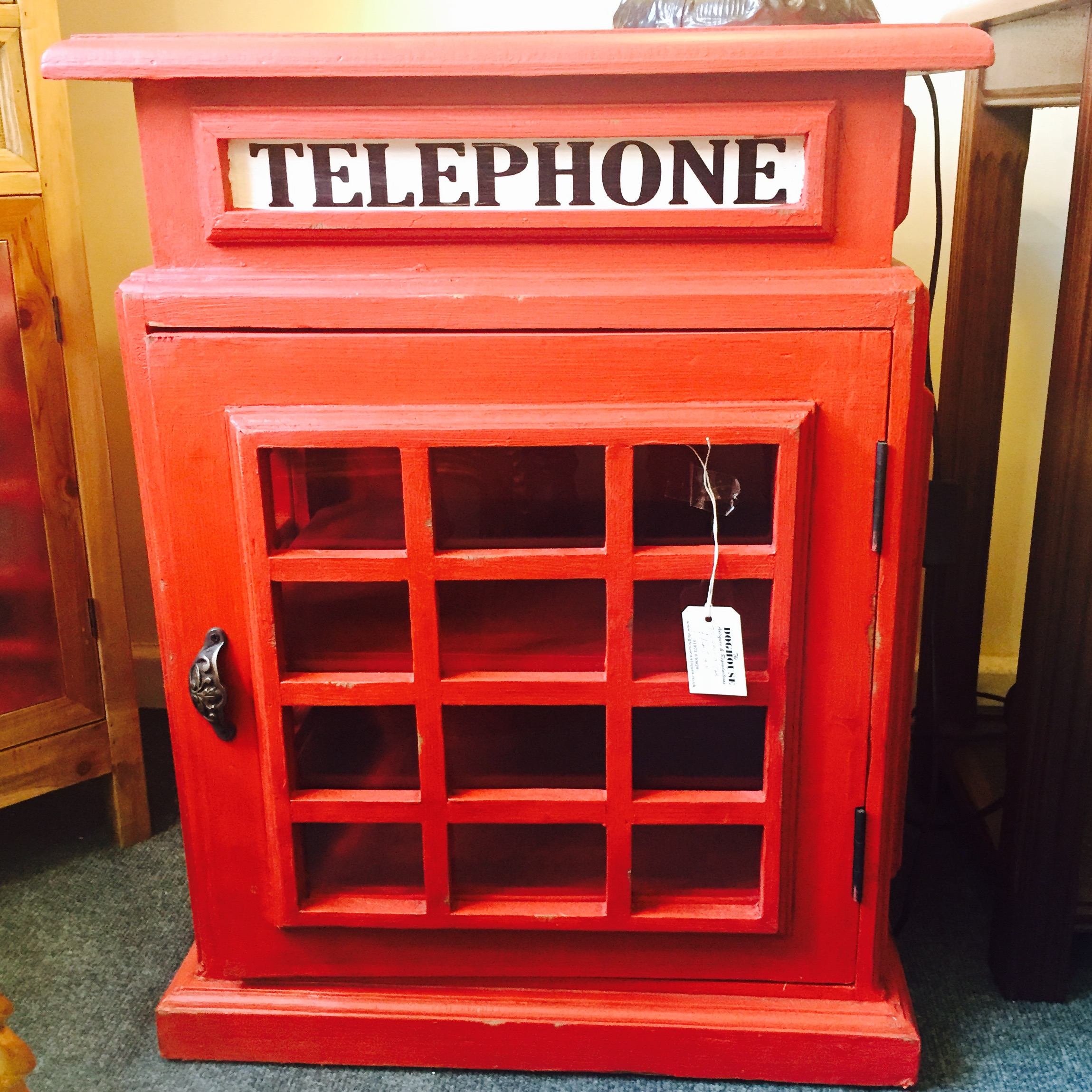 The Dog House Antiques Telephone Box Cabinet